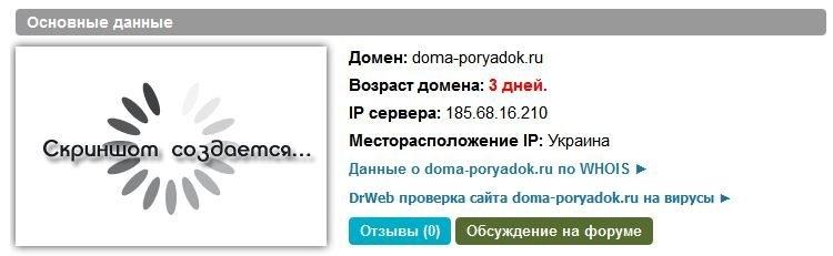 Возраст домена