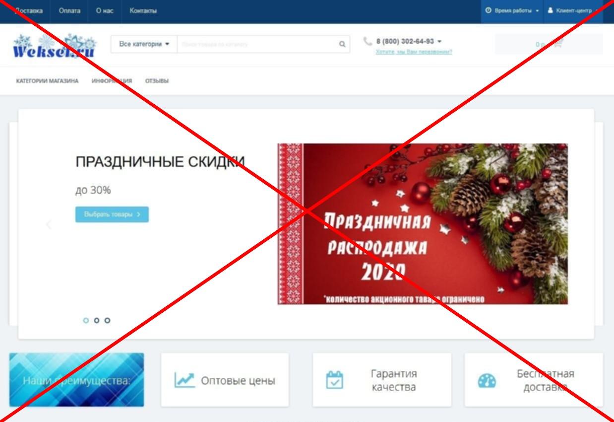 Скрин лохотрона weksel.ru